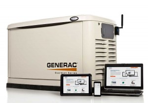 Generator controlled by mobile device